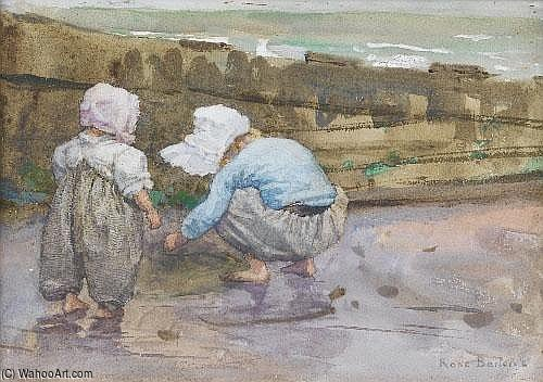 A Strenuous Morning Pencil by Rose Maynard Barton (1856-1930, Ireland)