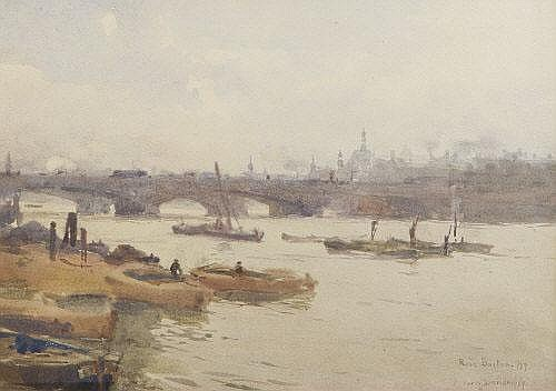 Barges On by Rose Maynard Barton (1856-1930, Ireland)
