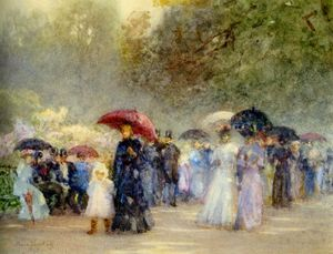 Order Hand Painted Oil Painting Hyde Park In May by Rose Maynard Barton (1856-1930, Ireland) | WahooArt.com | Order Hand Made Painting Hyde Park In May by Rose Maynard Barton (1856-1930, Ireland) | WahooArt.com