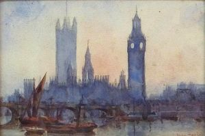 Rose Maynard Barton - London From The River