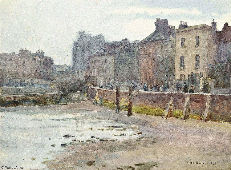 Old Chelsea Wall by Rose Maynard Barton (1856-1930, Ireland) | Museum Quality Reproductions | WahooArt.com