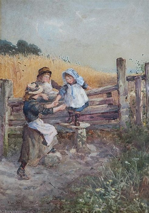 Over The Stile by Rose Maynard Barton (1856-1930, Ireland)