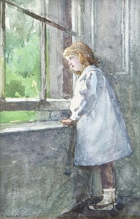 Girl At Window by Rose Maynard Barton (1856-1930, Ireland) | Museum Quality Reproductions | WahooArt.com