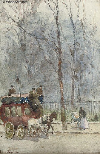 The Hammersmith Omnibus On Piccadilly by Rose Maynard Barton (1856-1930, Ireland)