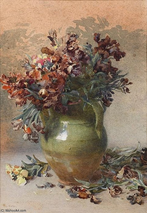 Wallflowers by Rose Maynard Barton (1856-1930, Ireland)