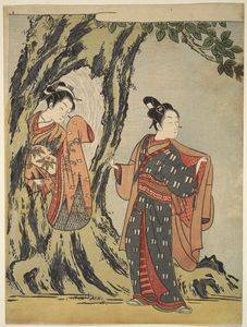 Suzuki Harunobu - Two Young People