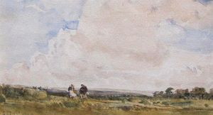 Thomas Collier - A Moorland Landscape With Two