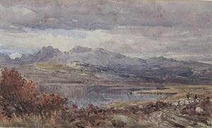 Thomas Collier - An Extensive Landscape With Drovers And Sheep On A Track