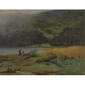 Joseph Henderson - Mother And Child By A Loch