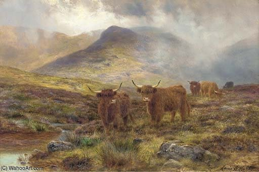 A Skye Moorland by Louis Bosworth Hurt (1856-1929, United Kingdom) | Famous Paintings Reproductions | WahooArt.com