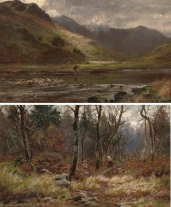 Louis Bosworth Hurt - An Angler In Glen Shiel, Ross-shire