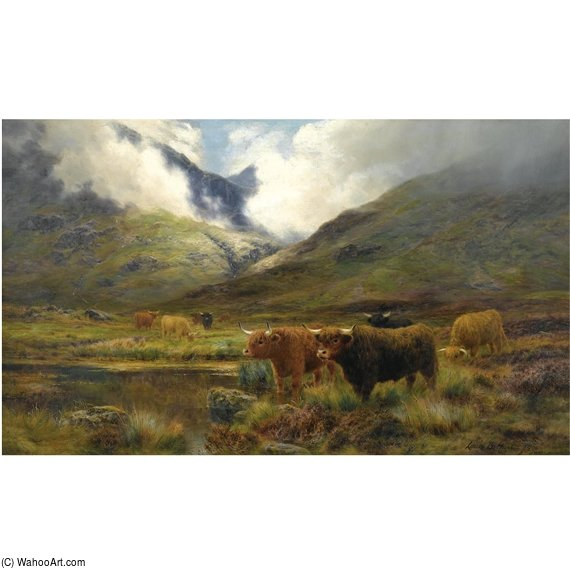 Clachaig, Glencoe by Louis Bosworth Hurt (1856-1929, United Kingdom)