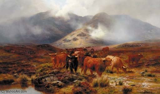 Crossing The Moorland by Louis Bosworth Hurt (1856-1929, United Kingdom) | Art Reproduction | WahooArt.com