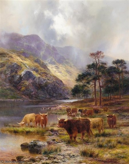 Loch Awe by Louis Bosworth Hurt (1856-1929, United Kingdom) | Oil Painting | WahooArt.com