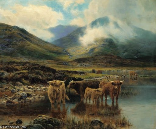 Near Glencoe by Louis Bosworth Hurt (1856-1929, United Kingdom) | Museum Quality Reproductions | WahooArt.com