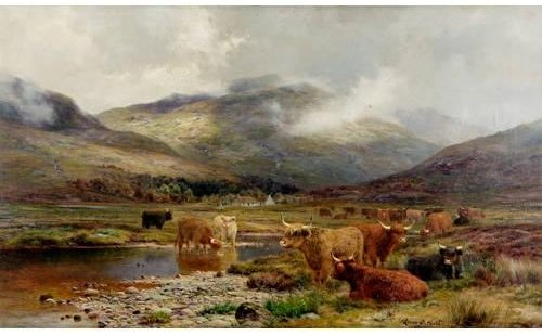 When Rain Has Past And Mists Uplift by Louis Bosworth Hurt (1856-1929, United Kingdom)