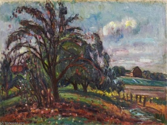 Country Scene by Louis Ritman (1889-1963, Russia)