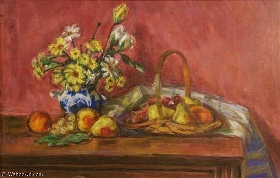 Fruit And Flowers by Louis Ritman (1889-1963, Russia)