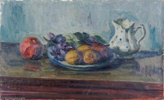 Fruit With Pitcher by Louis Ritman (1889-1963, Russia)