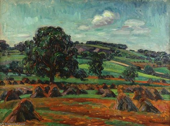 Haystacks by Louis Ritman (1889-1963, Russia)