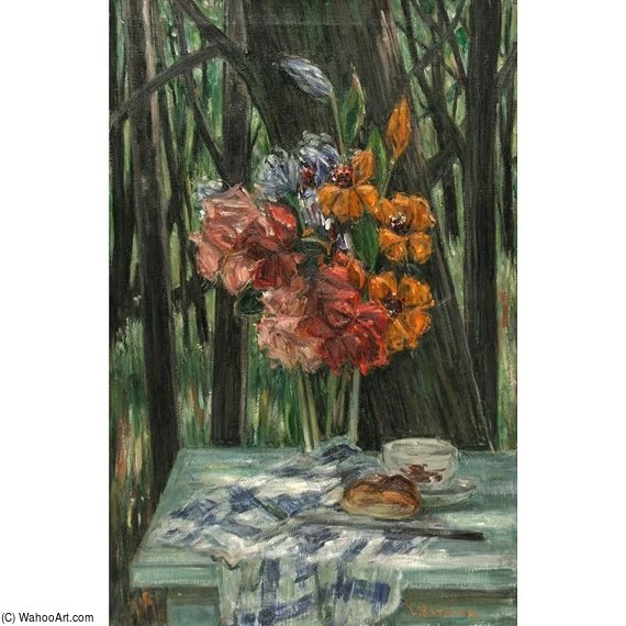Outdoor Still Life by Louis Ritman (1889-1963, Russia)