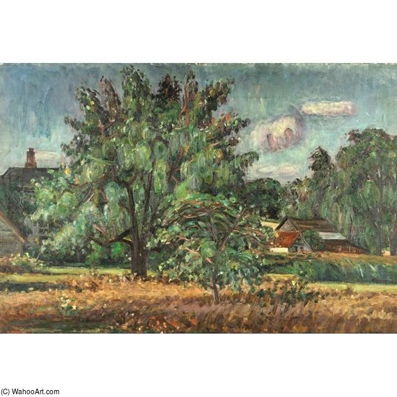 Rural Scene by Louis Ritman (1889-1963, Russia) | Famous Paintings Reproductions | WahooArt.com