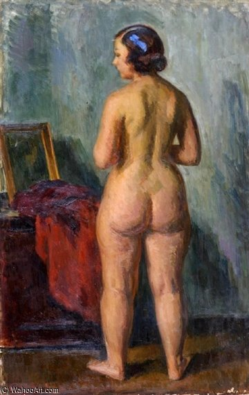 Standing Nude by Louis Ritman (1889-1963, Russia) | Oil Painting | WahooArt.com