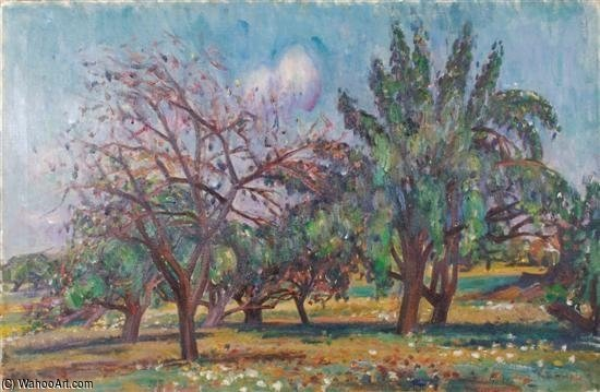 The Orchard by Louis Ritman (1889-1963, Russia)