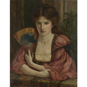 Marie Spartali Stillman - Portrait In Medieval Dress