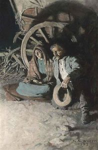 Nc Wyeth - It Was Such A Warm Little House, There,- Said She, Huskily