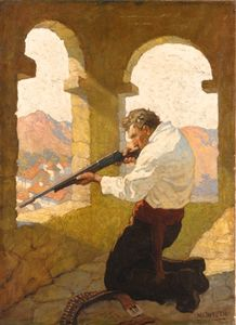 Nc Wyeth - Man Shooting In A Tower