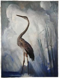 Nc Wyeth - The Great Blue Heron