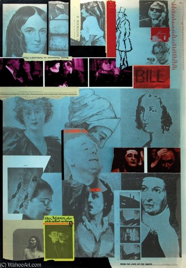 From Lives Of The Saints by R B Kitaj (1932-2007, United States)