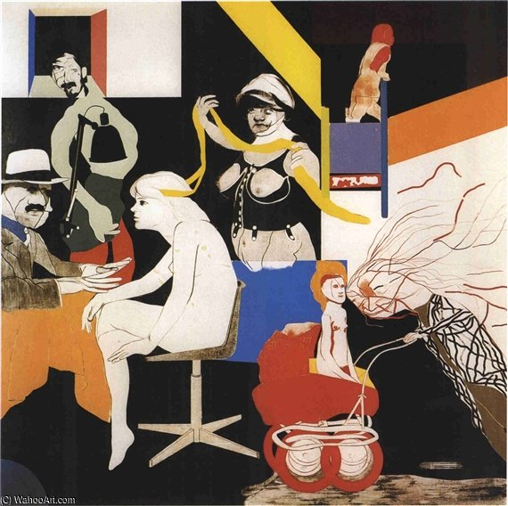 The Ohio Gang by Ronald Brooks Kitaj (1932-2007, United States)