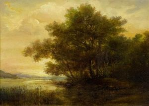 Robert Zund - Lake Scene