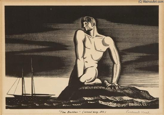 Bathers by Rockwell Kent (1882-1971, United States) |  | WahooArt.com