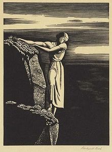 Rockwell Kent - Girl On Cliff (the Abyss)