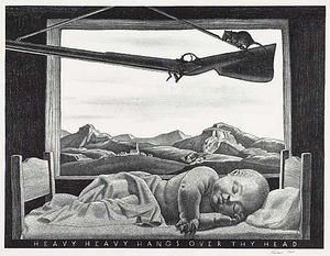 Rockwell Kent - Heavy, Heavy Hangs Over Thy Head