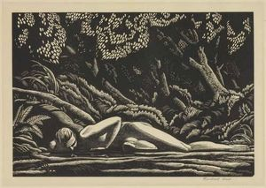 Rockwell Kent - The Forest Pool