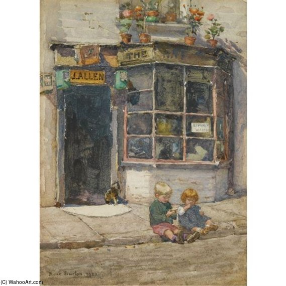 Cobbler's Shop In Lancelot Place by Rose Maynard Barton (1856-1930, Ireland)