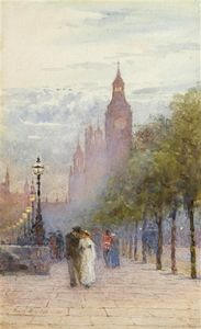 Rose Maynard Barton - Houses Of Parliament And Westminster