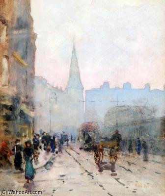 View Of St Andrews Church From Lower Dawson St, Dublin by Rose Maynard Barton (1856-1930, Ireland)