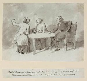 Nathaniel Dance-Holland - Three Men Seated Around A Table