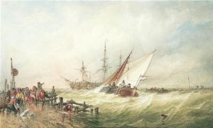 Thomas Sewell Robins - Shipping Off The Dutch Coast After A Storm