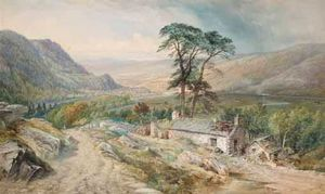 Thomas Sewell Robins - View Of Llanrwst From Bettws-y-coed