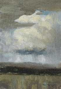 Thomas Thompson - Landscape With Storm Clouds