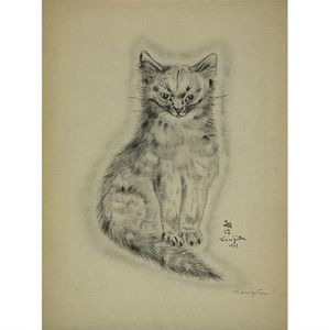 Léonard Tsugouharu Foujita - Untitled From A Book Of Cats
