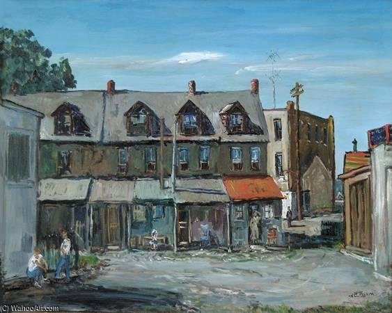 A Pennsylvania Town by Walter Emerson Baum (1884-1956, United States) | Painting Copy | WahooArt.com