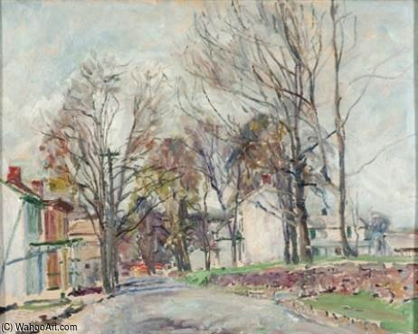 Carversville by Walter Emerson Baum (1884-1956, United States) | Oil Painting | WahooArt.com