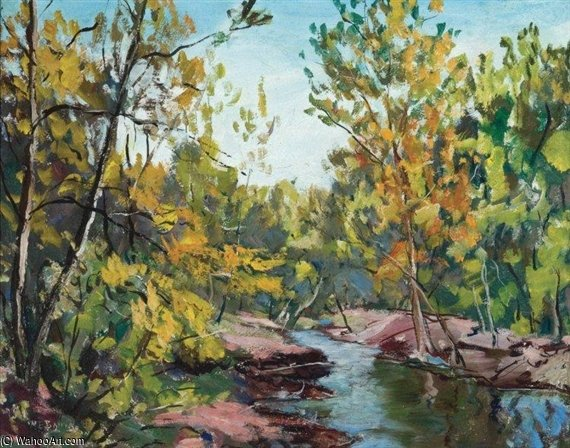 Forest Stream by Walter Emerson Baum (1884-1956, United States) | Painting Copy | WahooArt.com